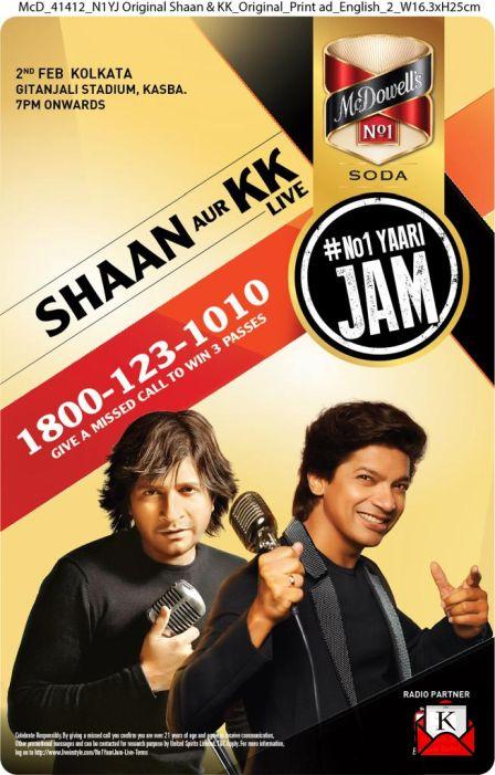 Shaan and KK to Perform Live at The No 1 Yaari Jam in Kolkata