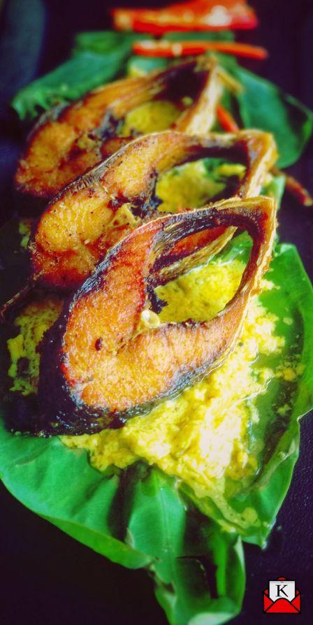 Poila Boisakh Special Recipe- Kumro Pata Bhapa Ilish