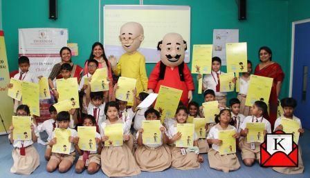 Nicktoons Motu Patlu Promotes Campaign Pressure Ko Bolo Bye
