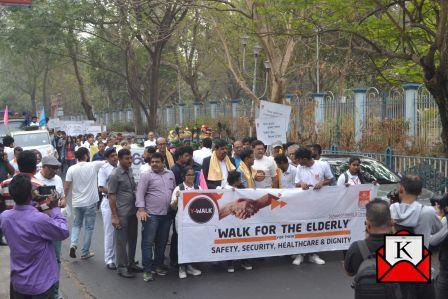 NSHM Kolkata Organized Y-WALK- Walk For The Elderly 2019