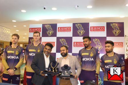 KKR Cricketers Unveiled AHAM Collection of Senco Gold & Diamonds